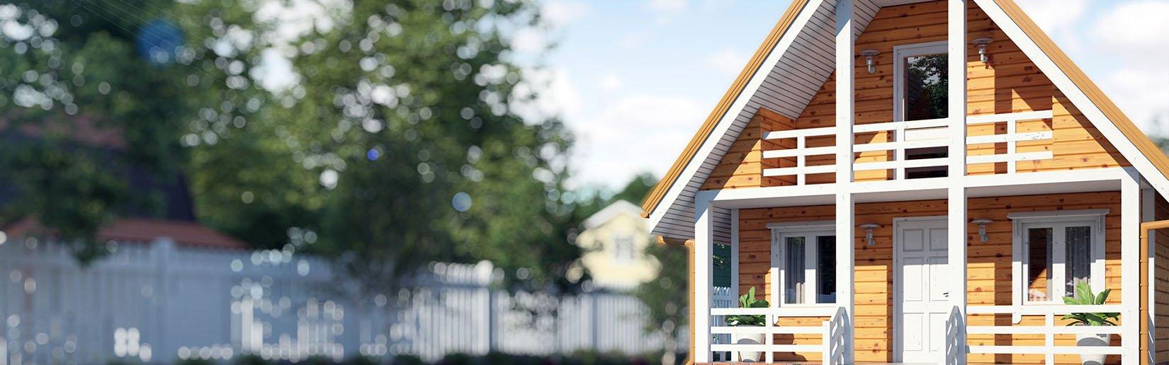 Смотреть дома из клееного бруса