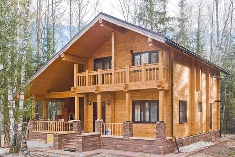 Двухэтажные дома под ключ: проекты и цены коттеджей из разных материалов
